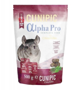 Cunipic Alpha Pro Chinchilla dla szynszyli 500g